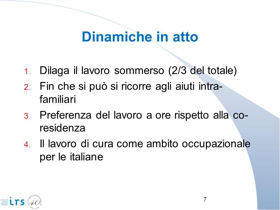 Dinamiche in atto Dilaga il lavoro sommerso (2/3 del totale)