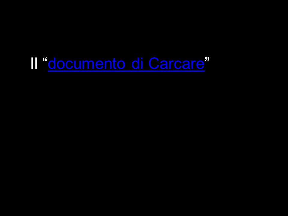 Il documento di Carcare