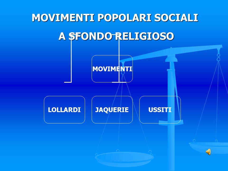 MOVIMENTI POPOLARI SOCIALI