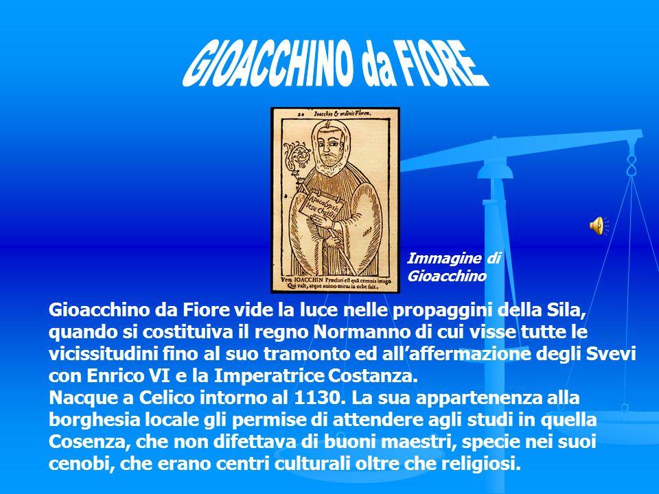 GIOACCHINO da FIORE Immagine di. Gioacchino.
