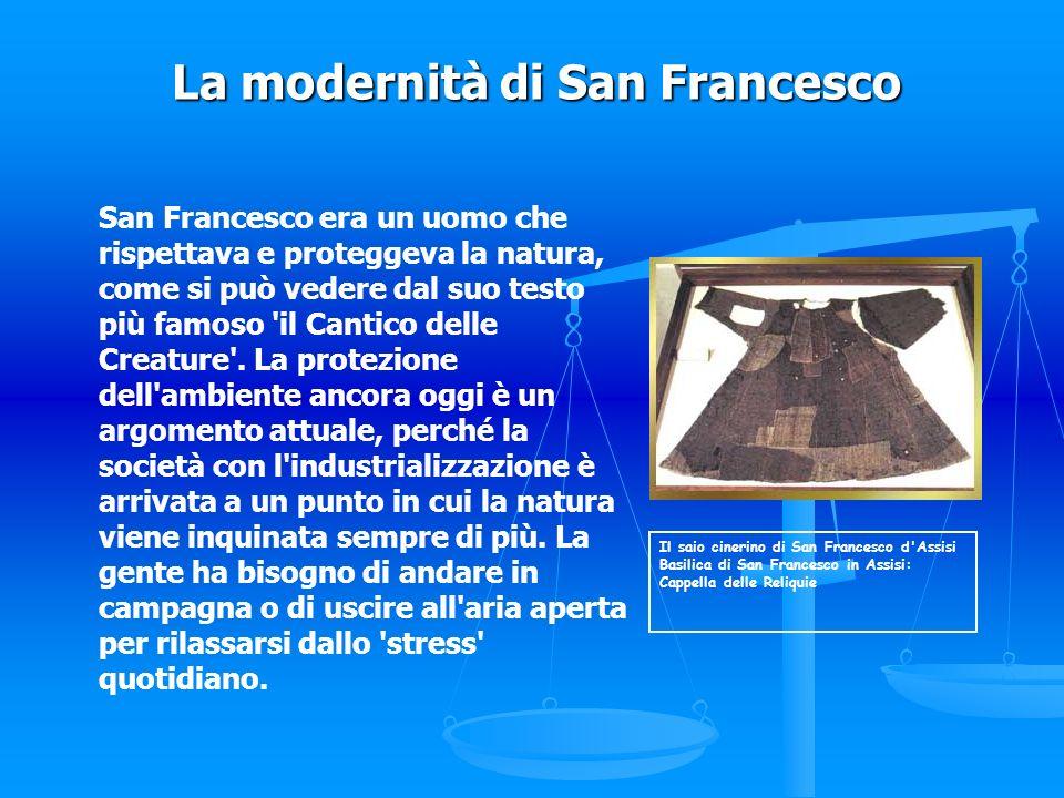 La modernità di San Francesco