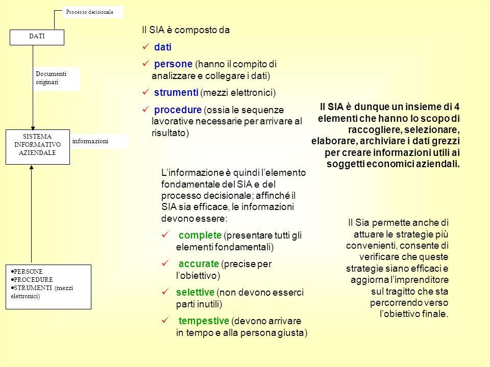 persone (hanno il compito di analizzare e collegare i dati)