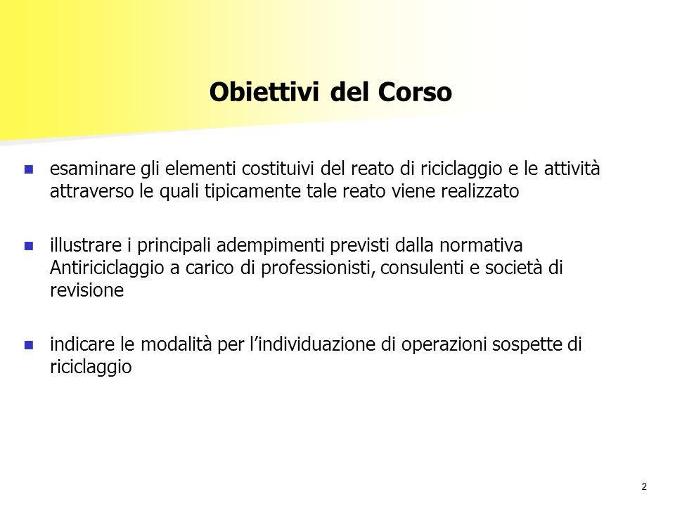 29/03/2017 Obiettivi del Corso.