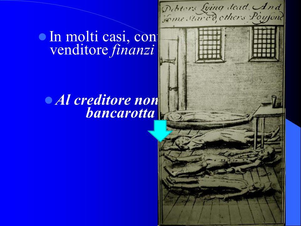 Al creditore non conviene mai la bancarotta del debitore