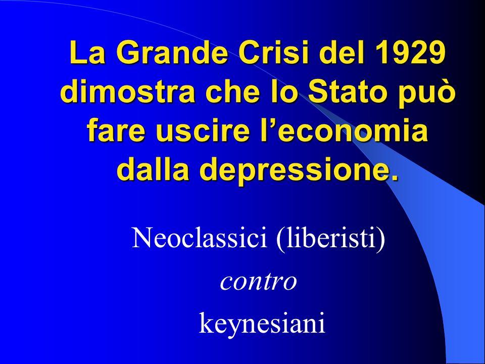 Neoclassici (liberisti) contro keynesiani