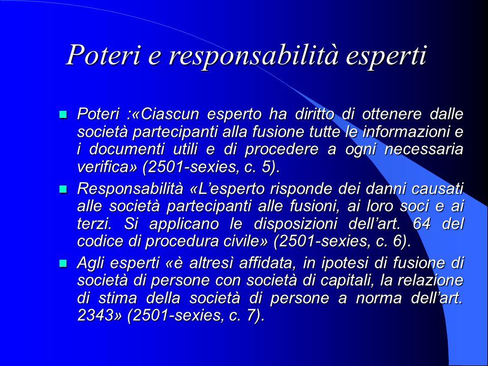 Poteri e responsabilità esperti