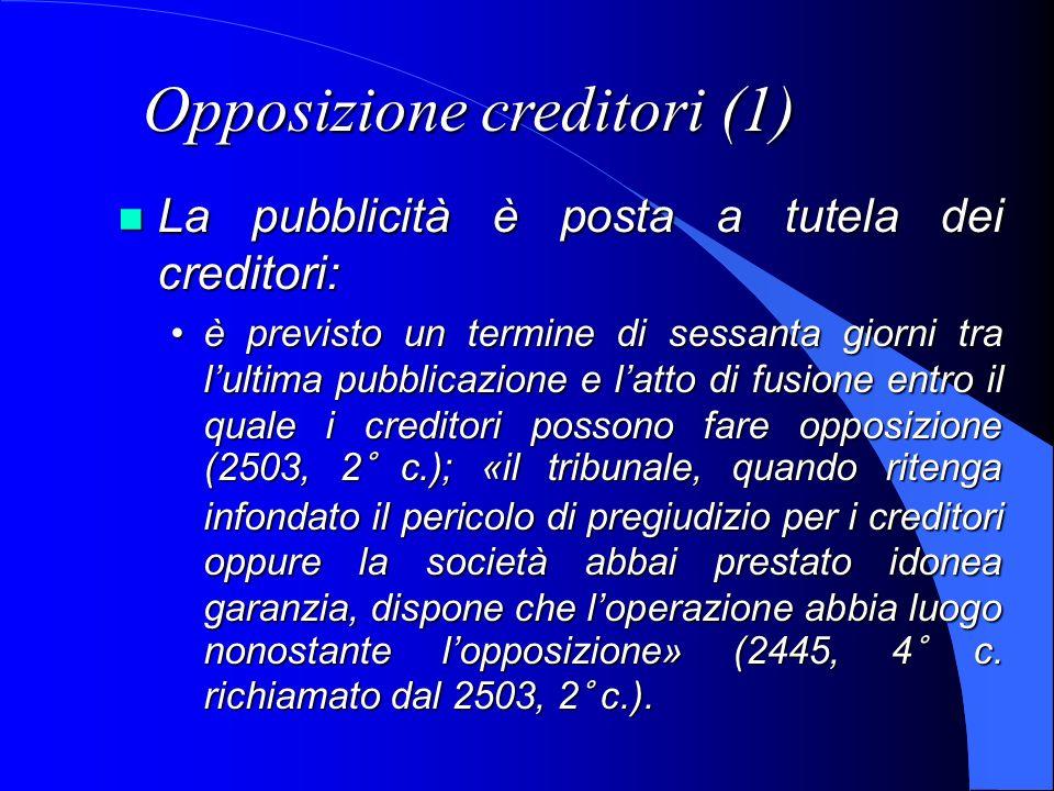 Opposizione creditori (1)