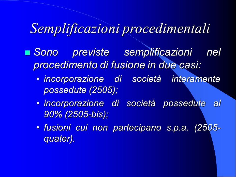 Semplificazioni procedimentali