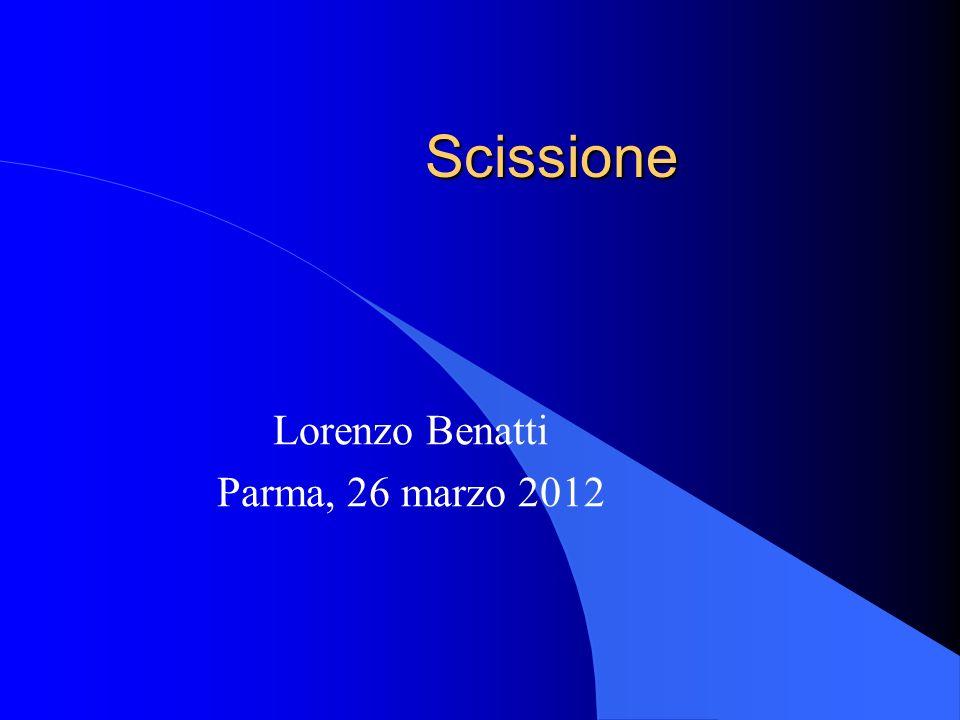 Lorenzo Benatti Parma, 26 marzo 2012
