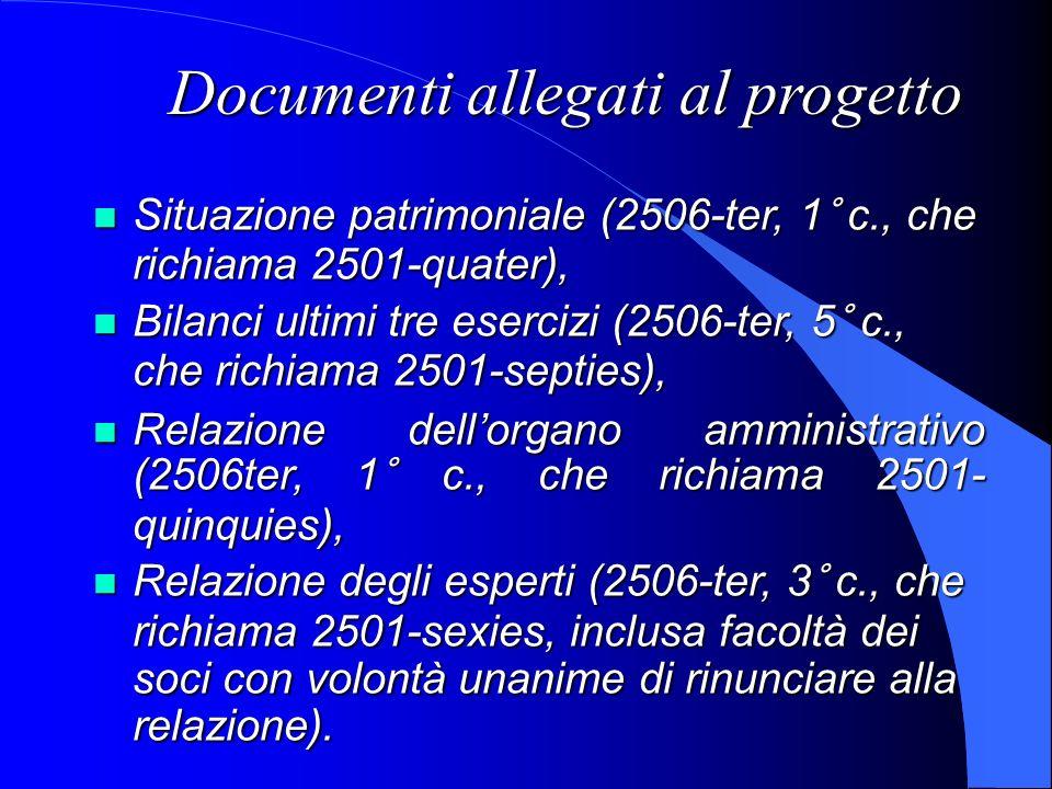 Documenti allegati al progetto