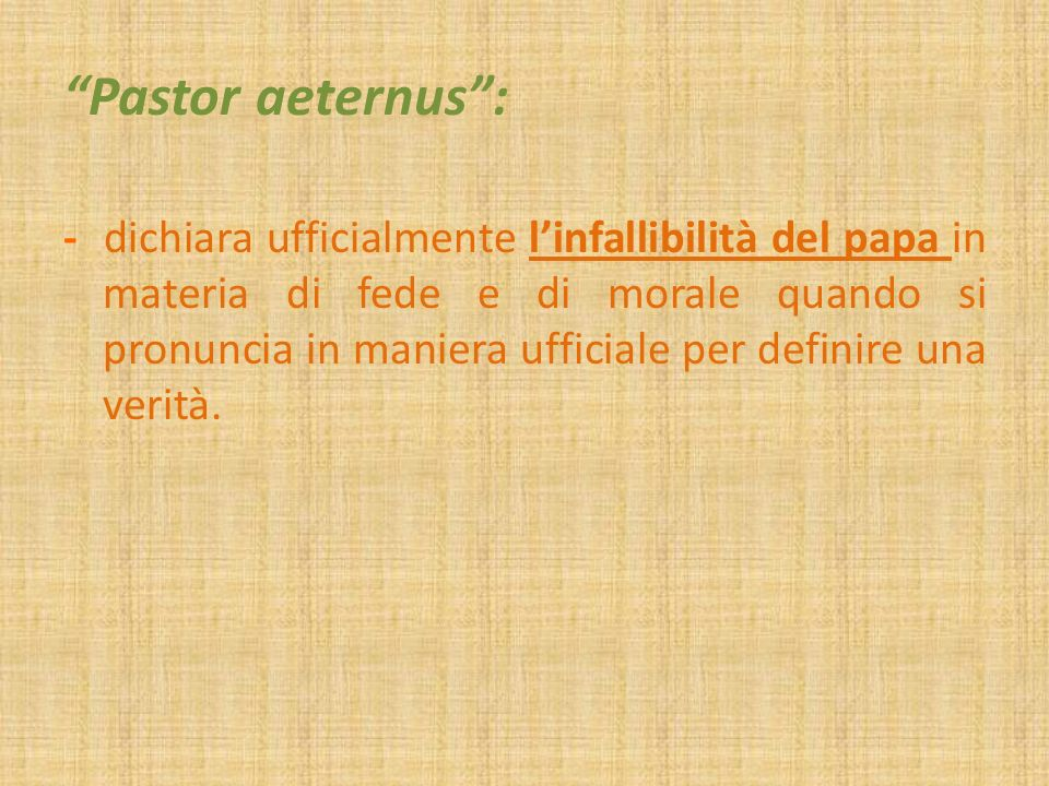 Pastor aeternus :