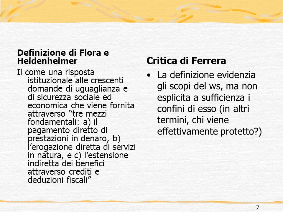 Definizione di Flora e Heidenheimer