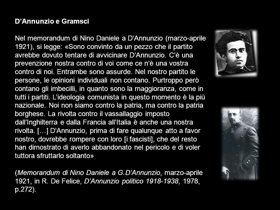 D'Annunzio e Gramsci