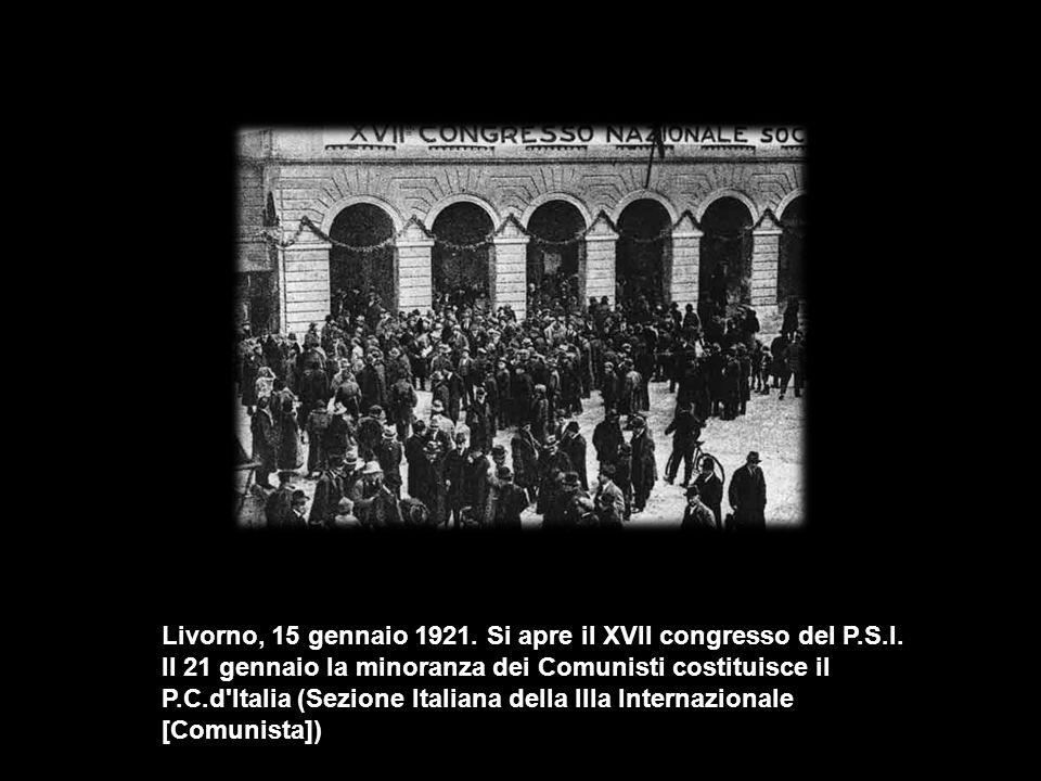 Livorno, 15 gennaio 1921. Si apre il XVII congresso del P.S.I.