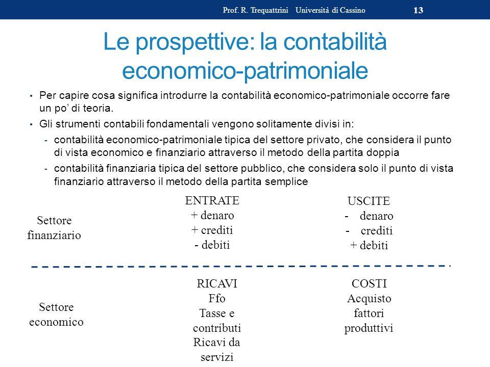 Le prospettive: la contabilità economico-patrimoniale