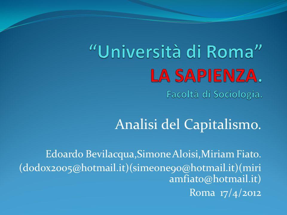 Università di Roma LA SAPIENZA. Facoltà di Sociologia.