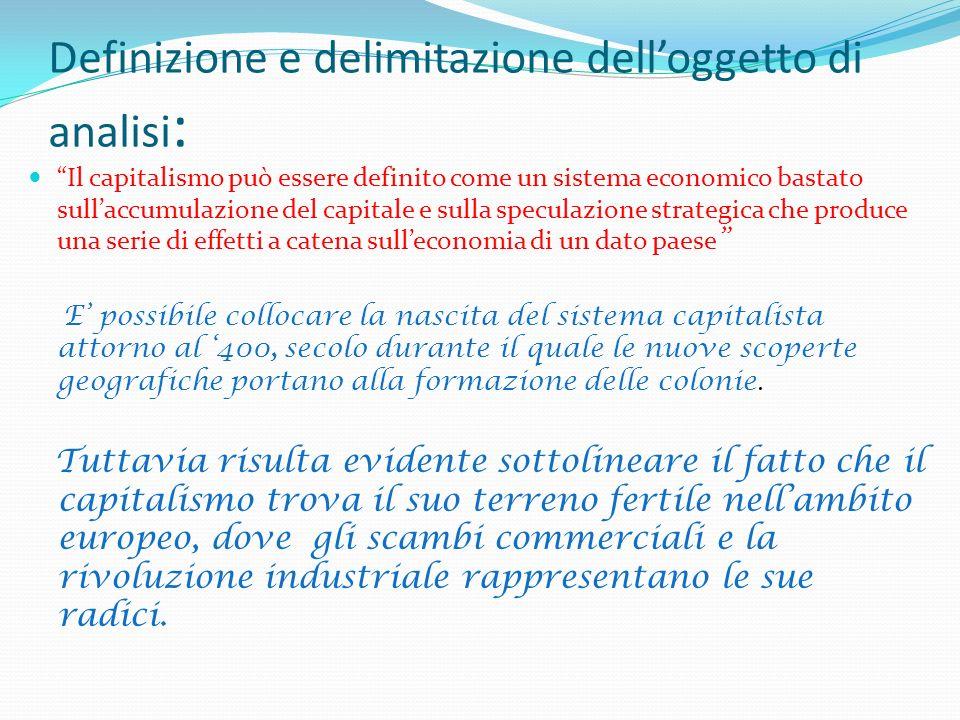 Definizione e delimitazione dell'oggetto di analisi: