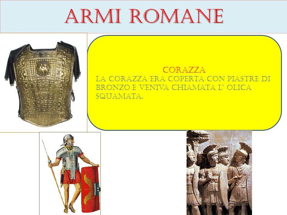 Armi romane Corazza.