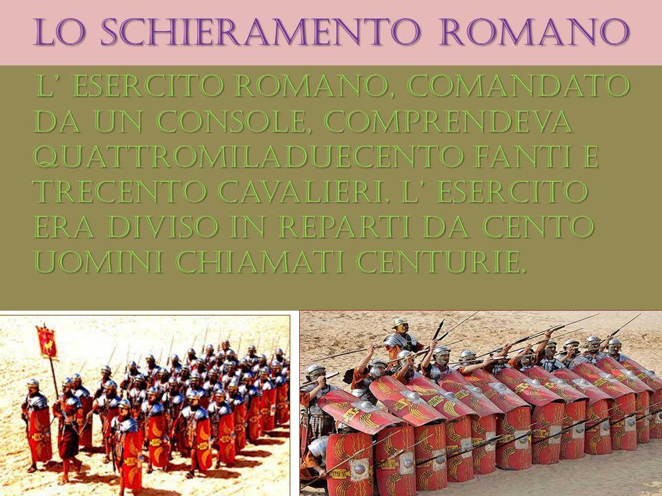 Lo schieramento romano
