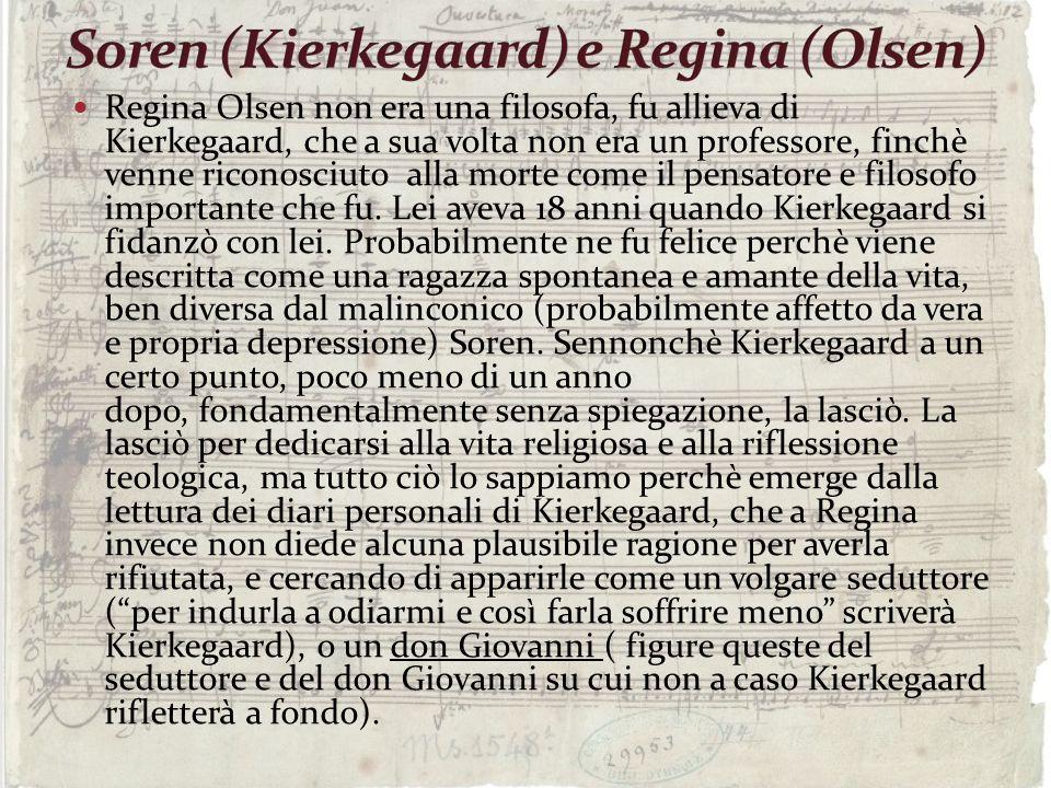 Soren (Kierkegaard) e Regina (Olsen)