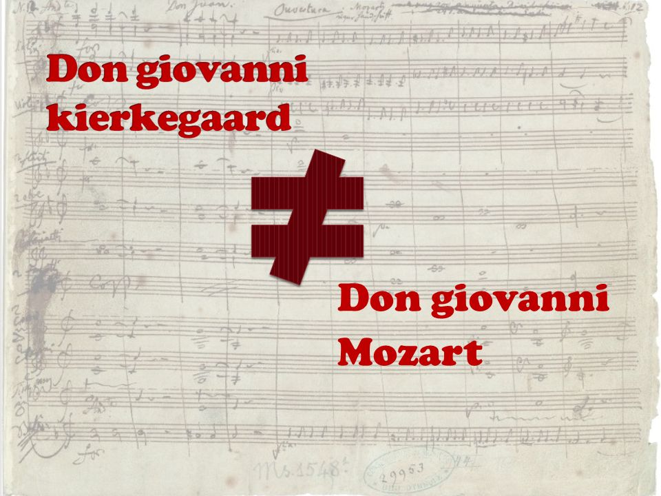 Don giovanni kierkegaard