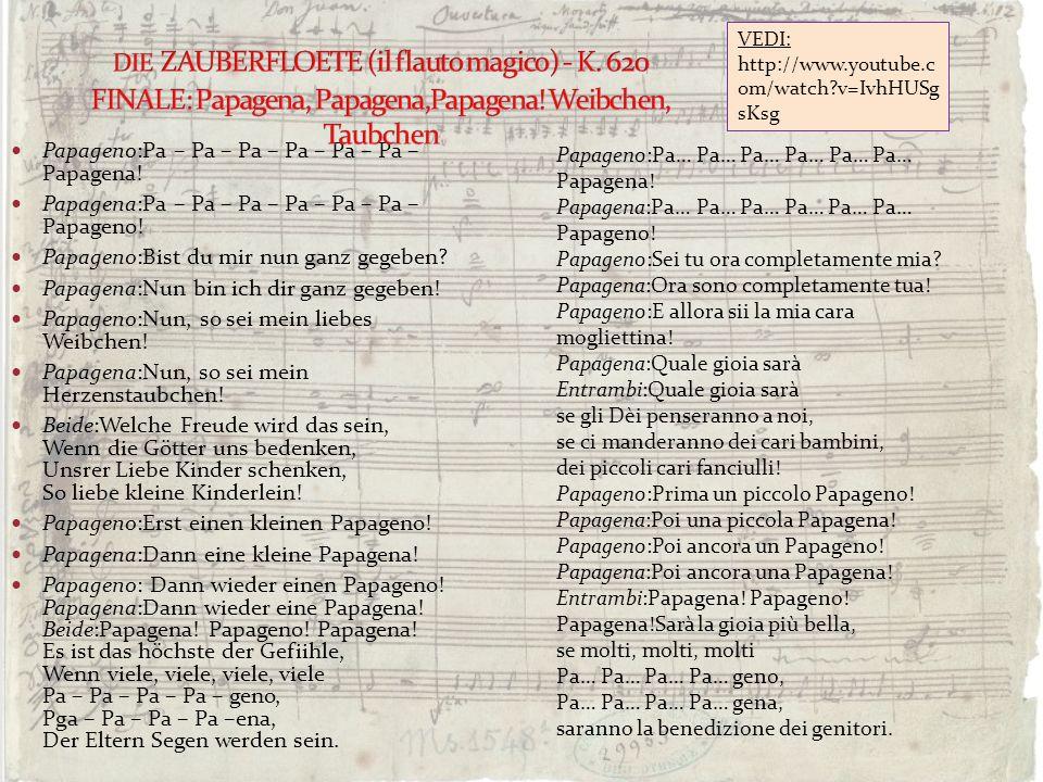 DIE ZAUBERFLOETE (il flauto magico) - K