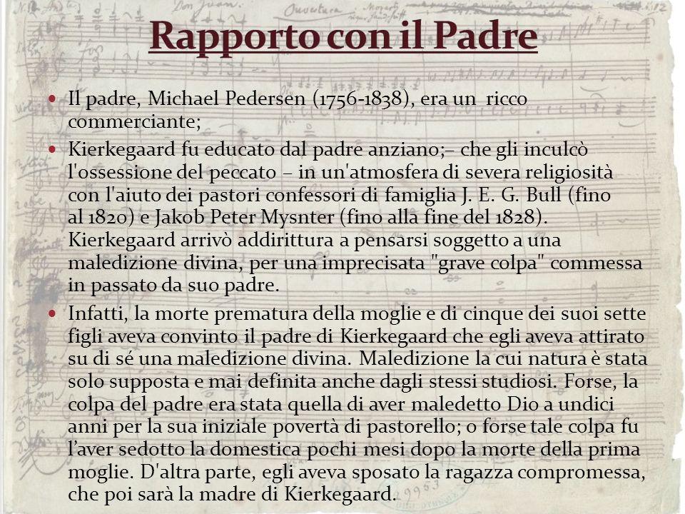 Rapporto con il Padre Il padre, Michael Pedersen (1756-1838), era un ricco commerciante;