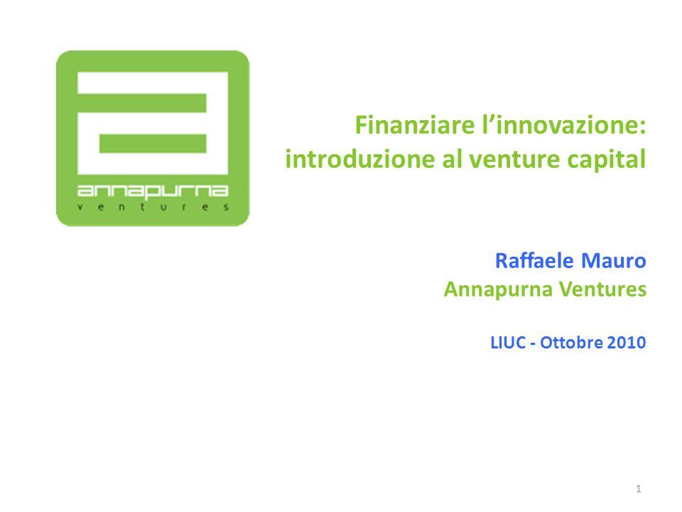 Finanziare l'innovazione: introduzione al venture capital