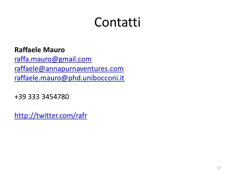 Contatti Raffaele Mauro raffa.mauro@gmail.com