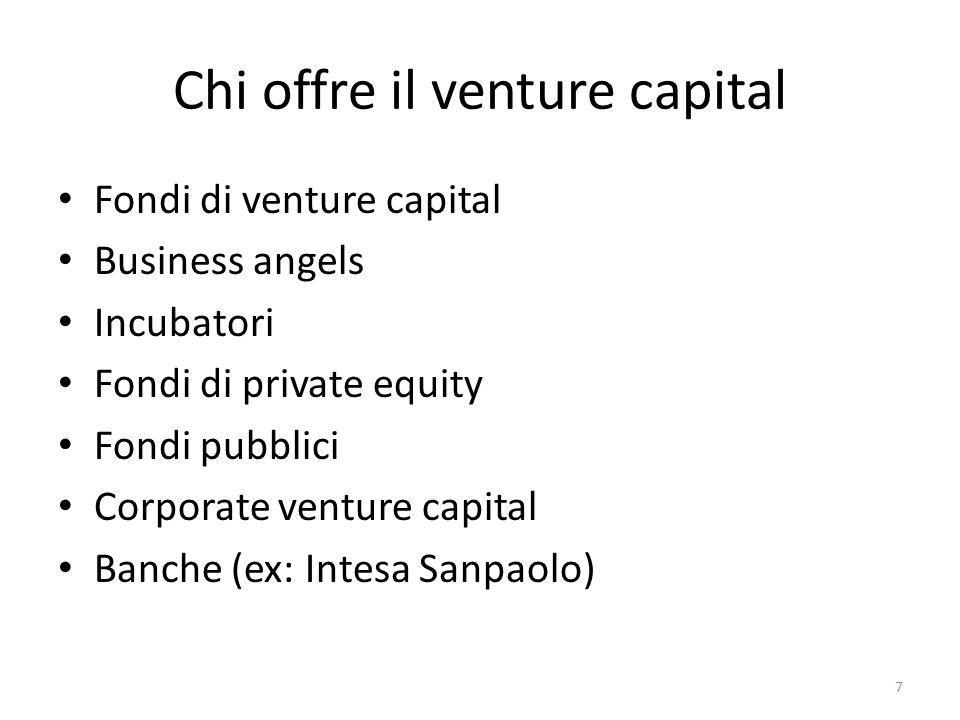Chi offre il venture capital