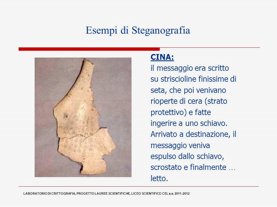 Esempi di Steganografia