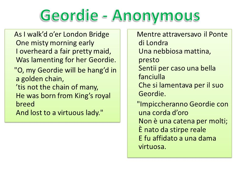 Geordie - Anonymous
