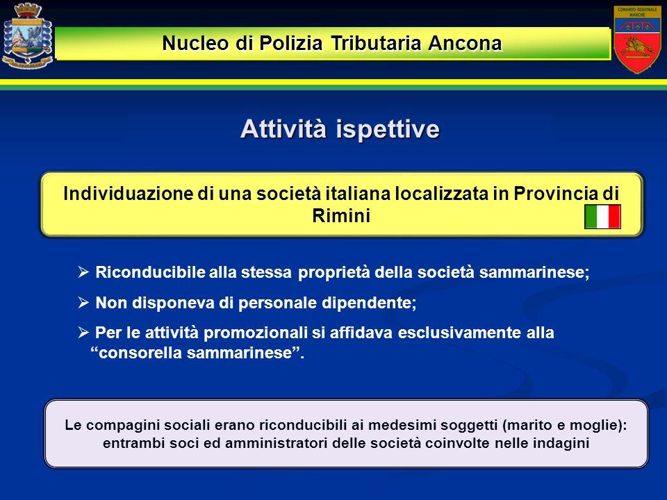 Attività ispettive Nucleo di Polizia Tributaria Ancona