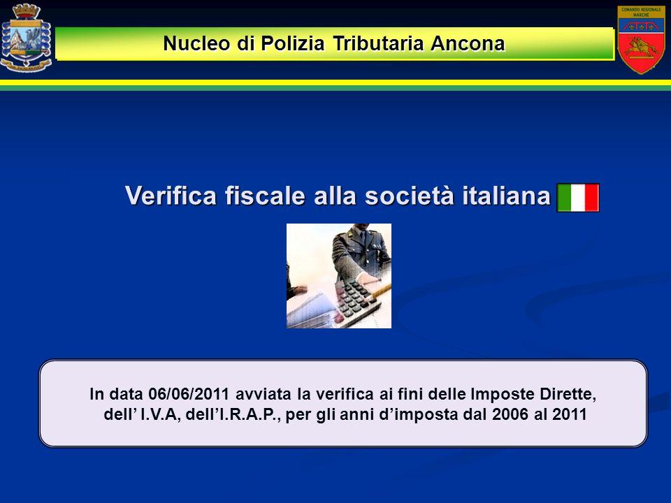 Verifica fiscale alla società italiana
