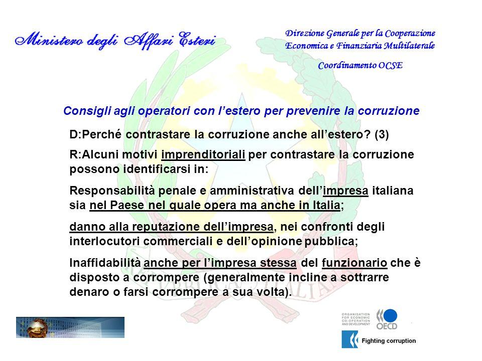 Consigli agli operatori con l'estero per prevenire la corruzione