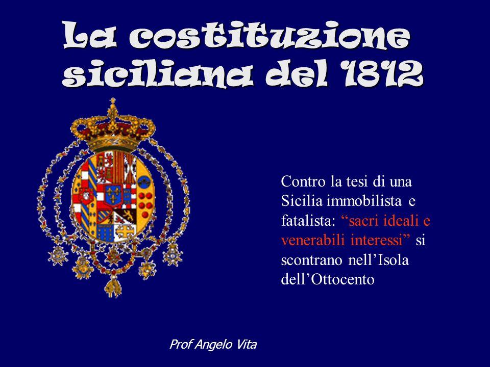 La costituzione siciliana del 1812