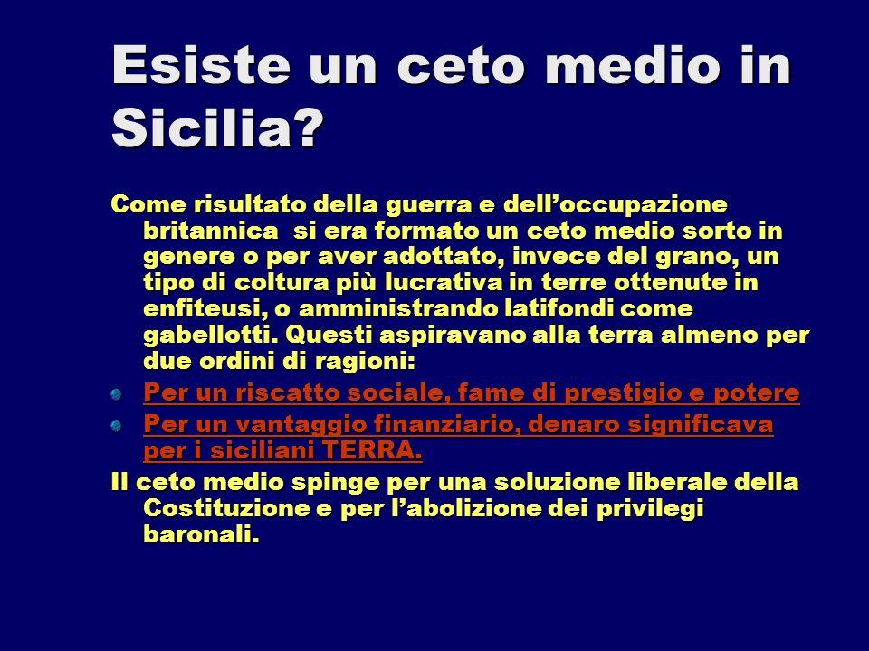 Esiste un ceto medio in Sicilia