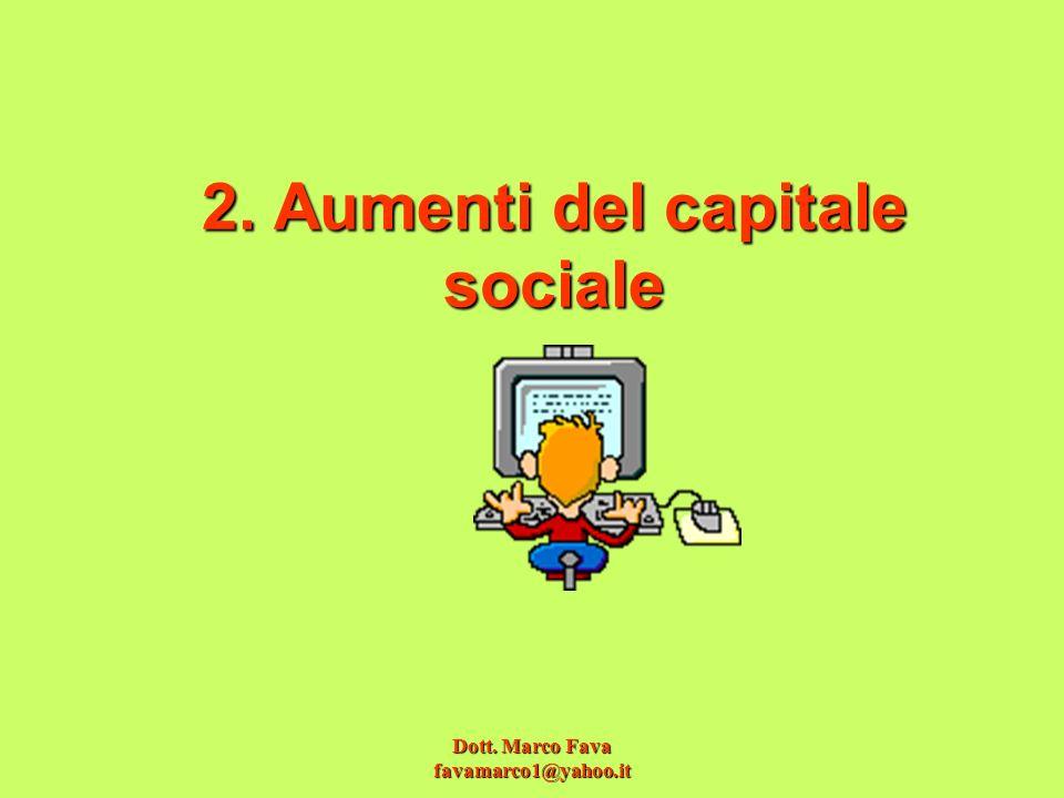 2. Aumenti del capitale sociale