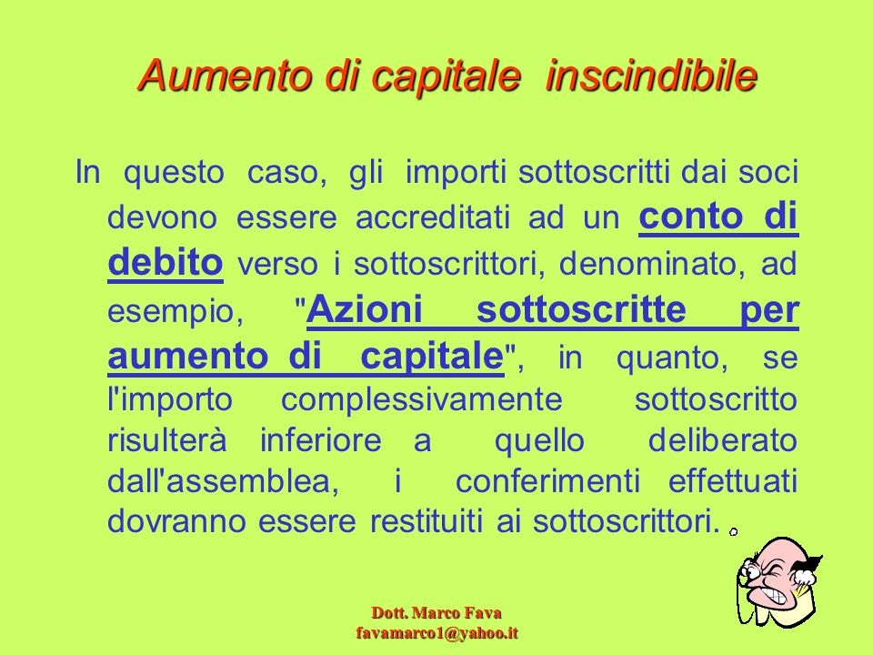 Aumento di capitale inscindibile