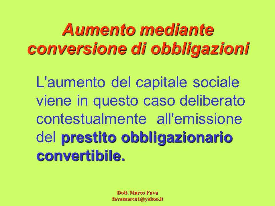 Aumento mediante conversione di obbligazioni