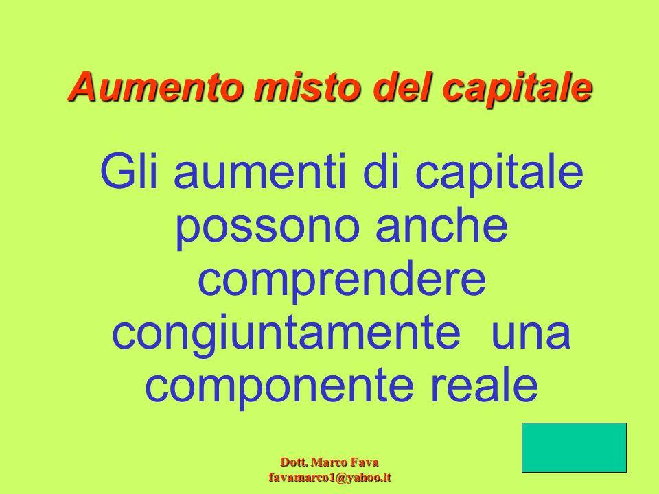 Aumento misto del capitale