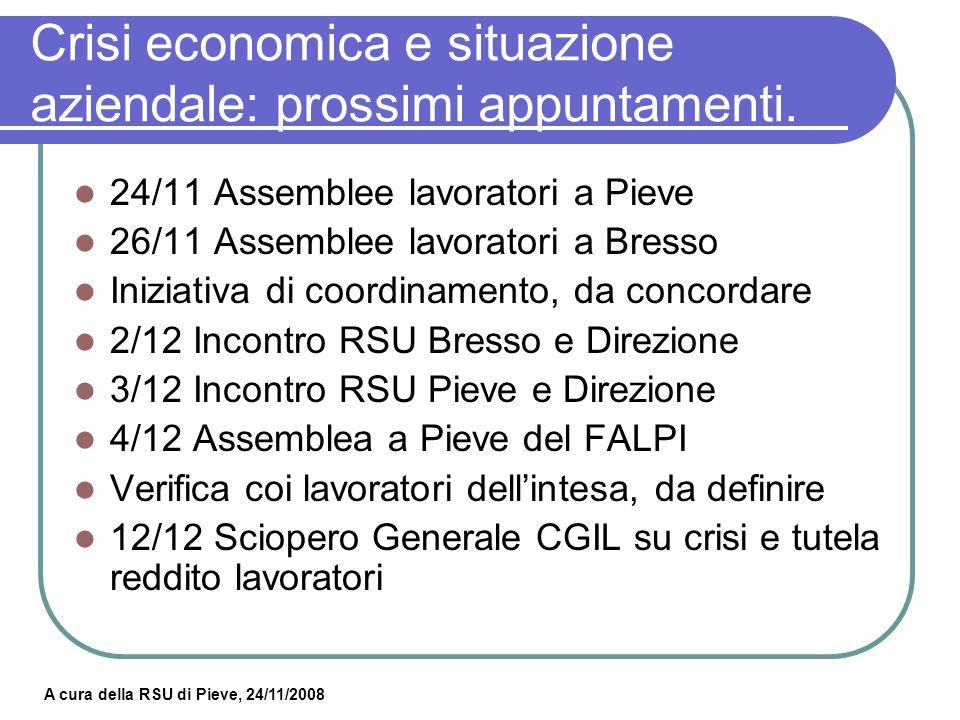 Crisi economica e situazione aziendale: prossimi appuntamenti.
