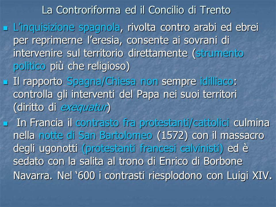 La Controriforma ed il Concilio di Trento
