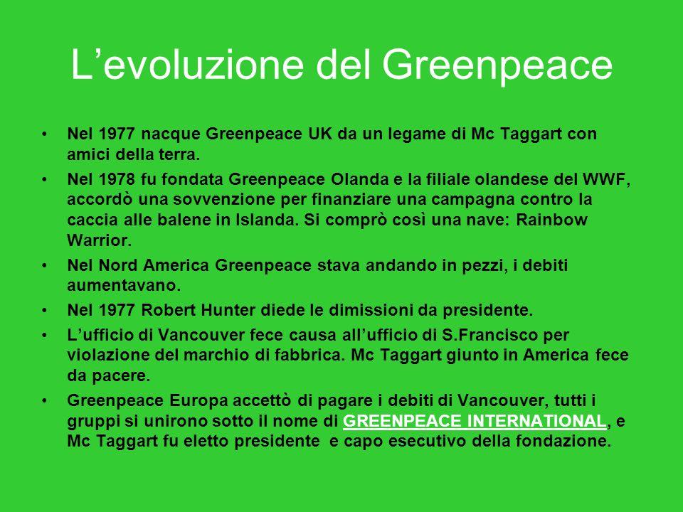 L'evoluzione del Greenpeace