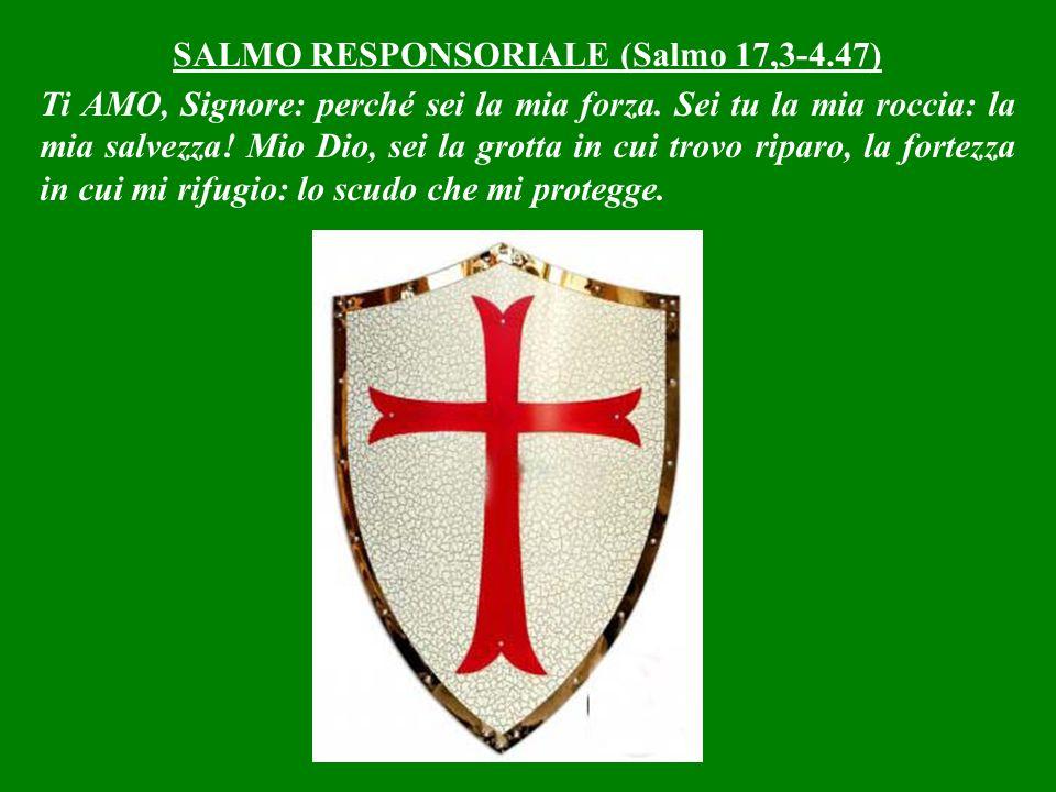 SALMO RESPONSORIALE (Salmo 17,3-4.47)