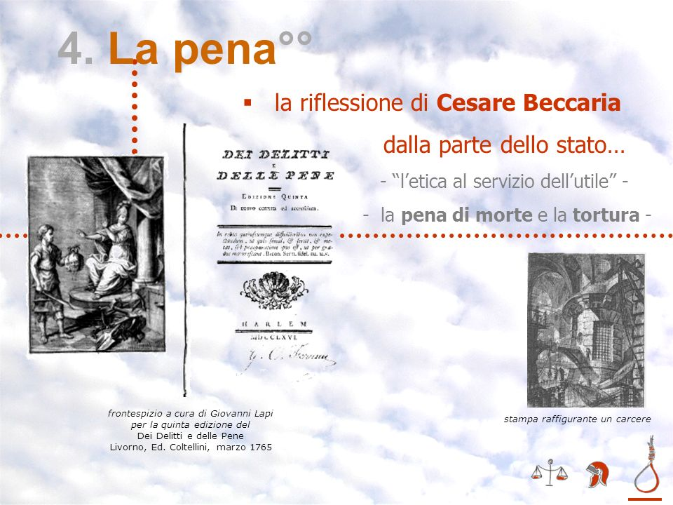 4. La pena°° la riflessione di Cesare Beccaria