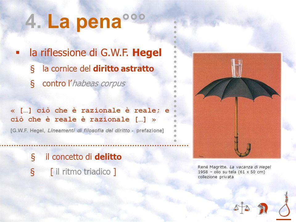 4. La pena°°° la riflessione di G.W.F. Hegel
