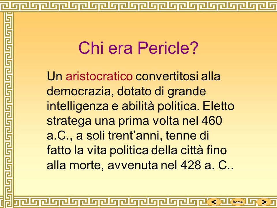 Chi era Pericle