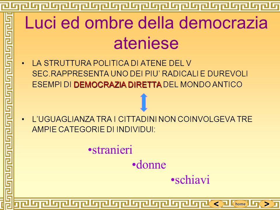 Luci ed ombre della democrazia ateniese