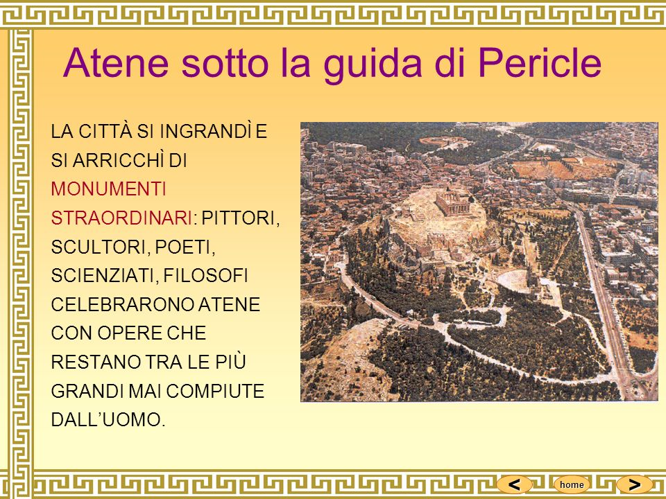 Atene sotto la guida di Pericle